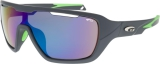 OKULARY GOGGLE T648-3 TIMOR MATT GREY/NEON GREEN
