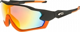 OKULARY GOGGLE T329-1 CAT.3 MATT BLK/ORANGE
