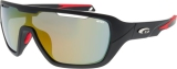 OKULARY GOGGLE T648-2 TIMOR MATT BLACK/RED